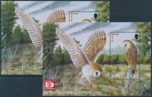 2001 Ragadozómadarak, HAFNIA nemzetközi bélyegkiállítás 2 klf blokk Mi 30 + 30 I