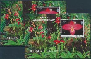 2004 Orchideák (V), LE SALON DU TIMBRE nemzetközi bélyegkiállítás 2 klf blokk Mi 44 + 44 I
