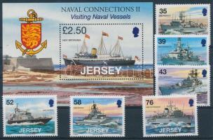 2008 Királyi haditengerészet sor Mi 1358-1363 + blokk Mi 70