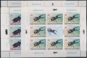 1998 Bogarak kisív sor Mi 143-146