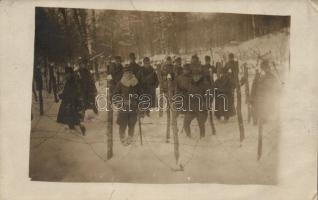 1918 WWI Austro-Hungarian soldiers, winter, photo, 1918 I. világháborús Osztrák-Magyar katonák télen, fotó