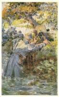 Aus dem goldenen Buche der Armee Serie II. Rotes Kreuz Postkarte Nr. 263. / K.u.K. military art postcard s: A. Marussig, K.u.K. katonai művészeti képeslap, s: A. Marussig