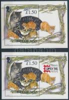 1996 Macskák, CAPEX nemzetközi bélyegkiállítás 2 klf blokk Mi 25 + 25 I