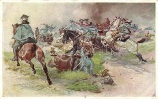 Aus dem goldenen Buche der Armee Serie II. Rotes Kreuz Postkarte Nr. 265. / K.u.K. military art postcard s: Fr. Jung, K.u.K. katonai művészeti képeslap, s: Fr. Jung