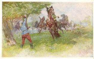 Aus dem goldenen Buche der Armee Serie II. Rotes Kreuz Postkarte Nr. 267. / K.u.K. military art postcard, K.u.K hadsereg, művészeti képeslap