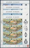1997 Repülőgépek sor 4 ívszéli párban + kisívsor Mi 722-729 (2 stecklapon)