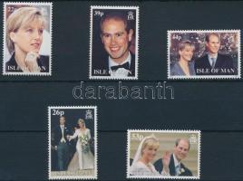 1999 Edward herceg és Sophie Rhys-Jones esküvője (I-II) 2 kl sor Mi 826-830