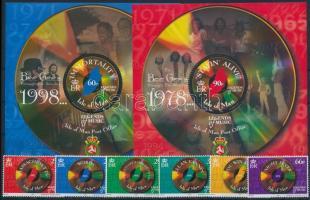 1999 Bee Gees sor Mi 835-840 + blokkpár Mi 36-37