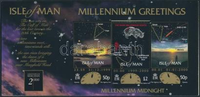 2000 Ezredforduló (II) bélyeg összehajtható kártyán Mi 846