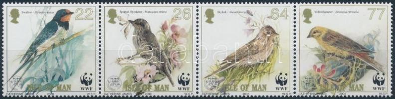 2000 WWF énekesmadarak négyescsík Mi 860-863