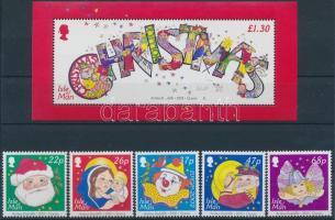 2002 Karácsony, Europa CEPT: cirkusz sor Mi 1024-1028 + blokk Mi 46