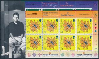 2002 Paul McCartney 60 éves, virágrajzok kisívsor Mi 978-983
