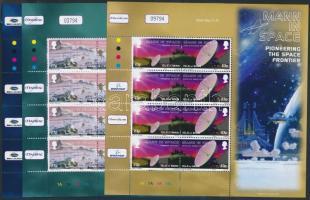 2003 Űrkutatás 3 klf kisív Mi 1030-1035