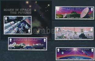 2003 Űrkutatás sor 4 párban Mi 1030-1037 + blokk Mi 47