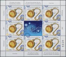 2007 Gergely naptár bevezetésének 425. évfordulója kisív Mi 135