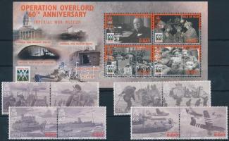 2004 A normandiai partraszállás sor párokban Mi 1114-1121 I A + blokk Mi 50