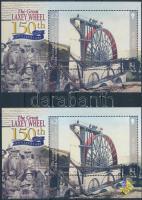 2004 Lady Isabella vízkerék, nemzetközi bélyegbörze 2 klf blokk Mi 51 + 51 I
