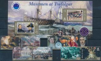 2005 A trafalgari csata 200. évfordulója sor párokban Mi 1183-1190 + blokk Mi 52