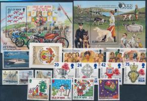 1996 15 klf bélyeg teljes sorokban, közte öntapadós bélyeg + 2 klf blokk