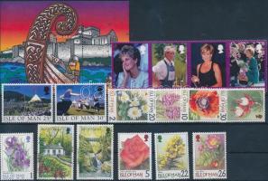 1998-1999 16 klf bélyeg teljes sorokban, közte négyescsík + 1 blokk