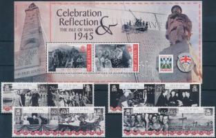 2005 60 éve ért véget a II. világháború sor párokban Mi 1193-1200 + blokk Mi 53