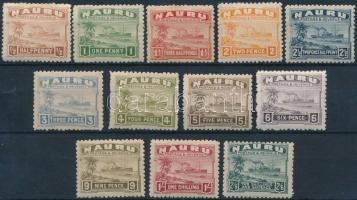 1924 Forgalmi sor záróértékek nélkül Mi 15-26 II (foghibák / perf. faults)