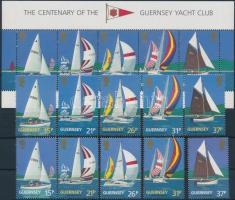 1991 100 éves a jacht klub sor Mi 522-526 a-b + blokk 7