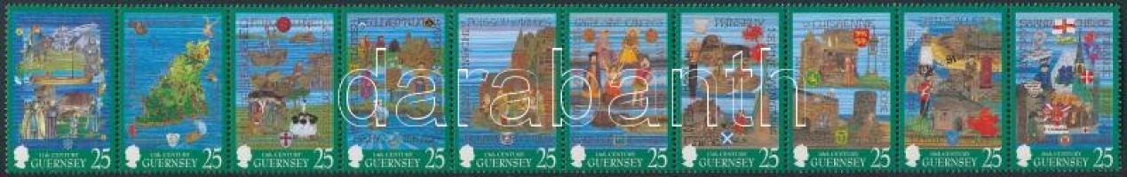 1998 Guernsey történelme sor középen hajtott 10-es csíkban Mi 759-768