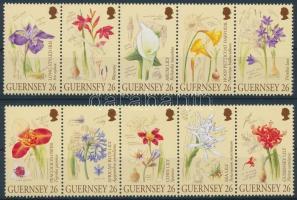2000 Virág sor 5-ös csíkokban Mi 858-867