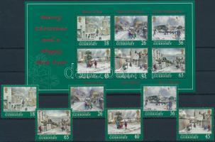 2000 Karácsony sor Mi 868-873 + blokk 25