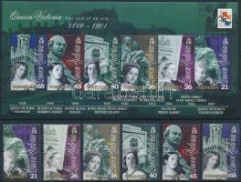 2001 Viktória királynő halálának 100. évfordulója sor Mi 874-879 + blokk 26