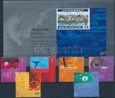 2001 A posta privatizációja sor Mi 900-905 + blokk 27