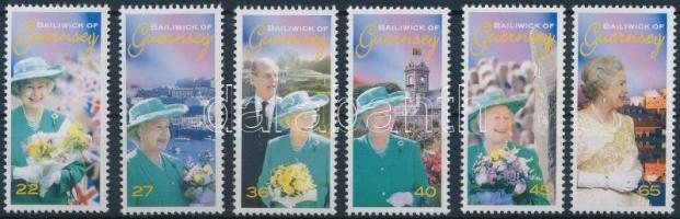 2002 II. Erzsébet királynő megkoronázásának 50. évfordulója sor Mi 926-931