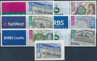 2008 Isle of Man bankjegyei szelvényes sor + öntapadós bélyeg Mi 1427-1432 Zf + 1433