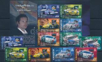 2006 Andy Priaulx autóversenyző sor Mi 1089-1094 + blokk 42