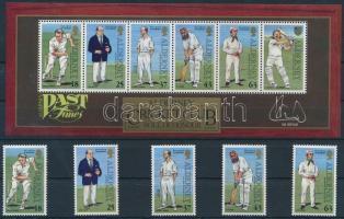 1997 Krikettjátékosok sor Mi 103-107 + blokk Mi 3