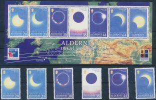 1999 Teljes napfogyatkozás sor Mi 131-136 + blokk Mi 6