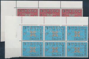 1963 Europa CEPT sor ívsarki hatostömbökben Mi 1320-1321