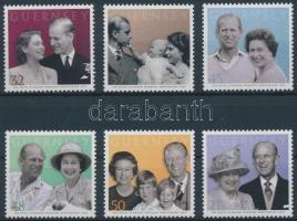 2007 II. Erzsébet királynő és Fülöp herceg 60. házassági évfordulója sor Mi 1145-1150