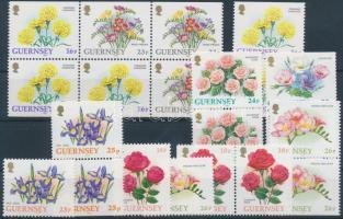 1992-1997 Virágok 20 db bélyeg, közte összefüggések