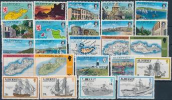 1983-1993 31 klf bélyeg teljes sorokban, közte négyescsík (2 stecklapon)