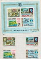 Cook szigetek 1967-1974 szinte komplett évfolyamok blokkokkal papírlapokon falccal rögzítve