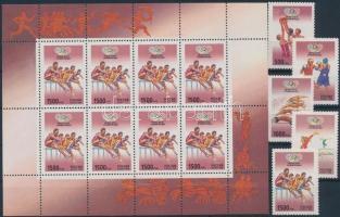 1996 Olimpia sor + kisív Mi 514-518
