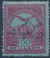 Bánát-Bácska 1919 Turul 50f Bodor vizsgálójellel (7.000)
