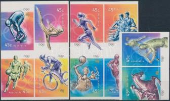 2000 Olimpia öntapadós sor bélyegfüzetből kivágott összefüggésekben Mi 1961-1970