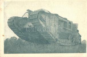 Hungarian tank at a military exposition, József főherceg erdélyi hadikiállítása a Margitszigeten; tank