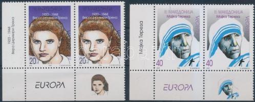 1996 Europa CEPT, Híres nők sor ívsarki párokban Mi 74-75