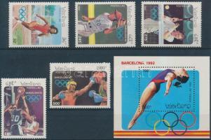 1992 Nyári olimpia sor Mi 1296-1300 + blokk Mi 142