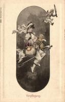 Verpflegung, Verlag Schaar & Dathe, Trier / K.u.K. military, gently erotic art postcard, K.u.K. hadsereg művészeti képeslap
