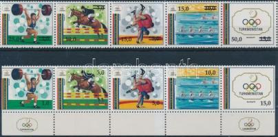 1992-1993 2 db Nyári olimpia ötöscsík 1992-1993 2 Summer Olympics stripes of 4